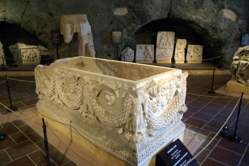 Hierapolis Archeology Museum in Pamukkale in Turkey