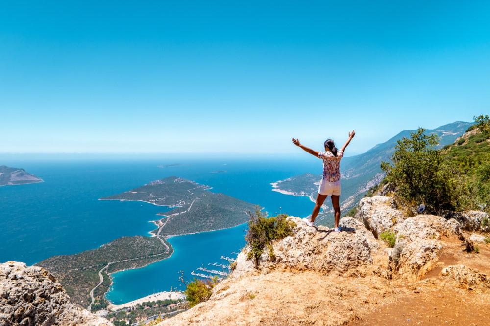 Hiking in Kas in Antalya in Turkey