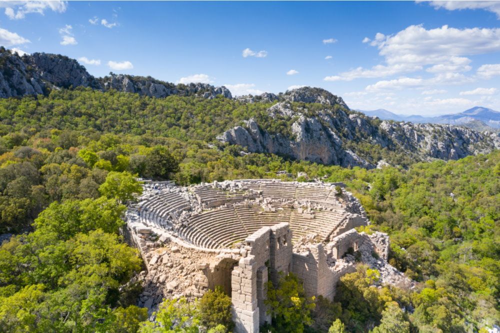 Hiking to the Ruins of Termessosin Antalya in Turkey