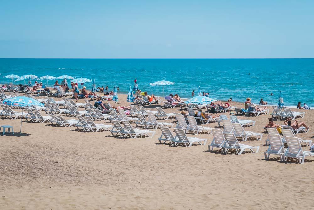 Hotel at Lara Beach in Antalya Turkey