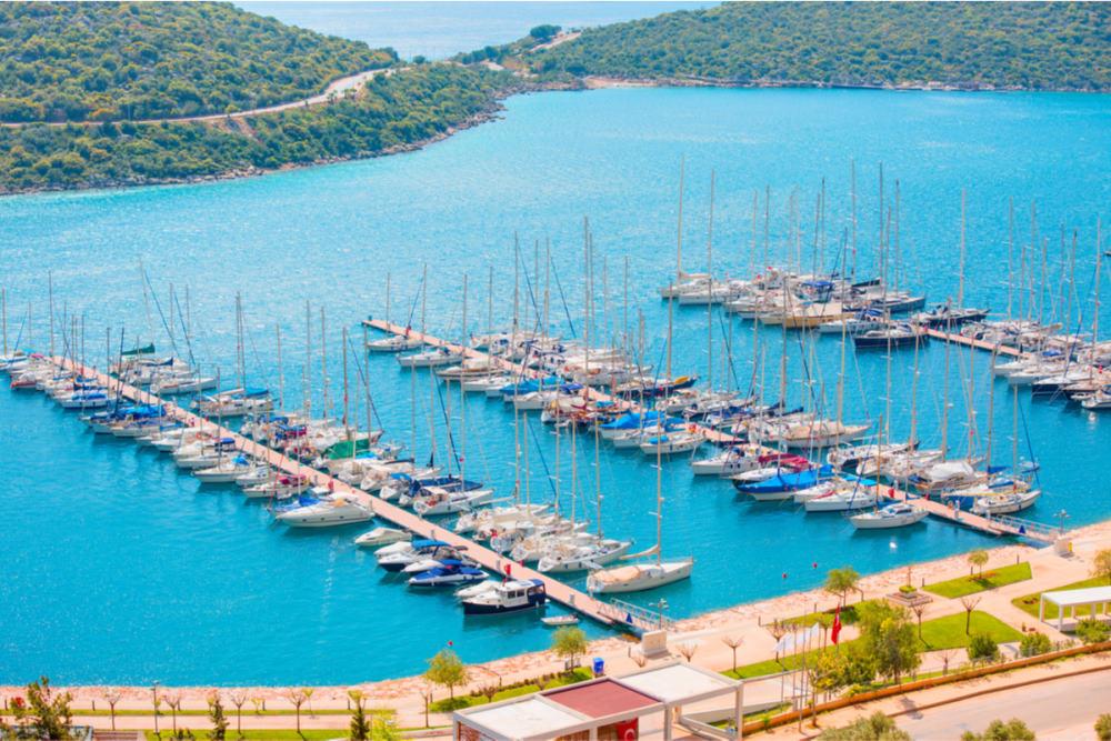 Kas Harbour in Antalya in Turkey