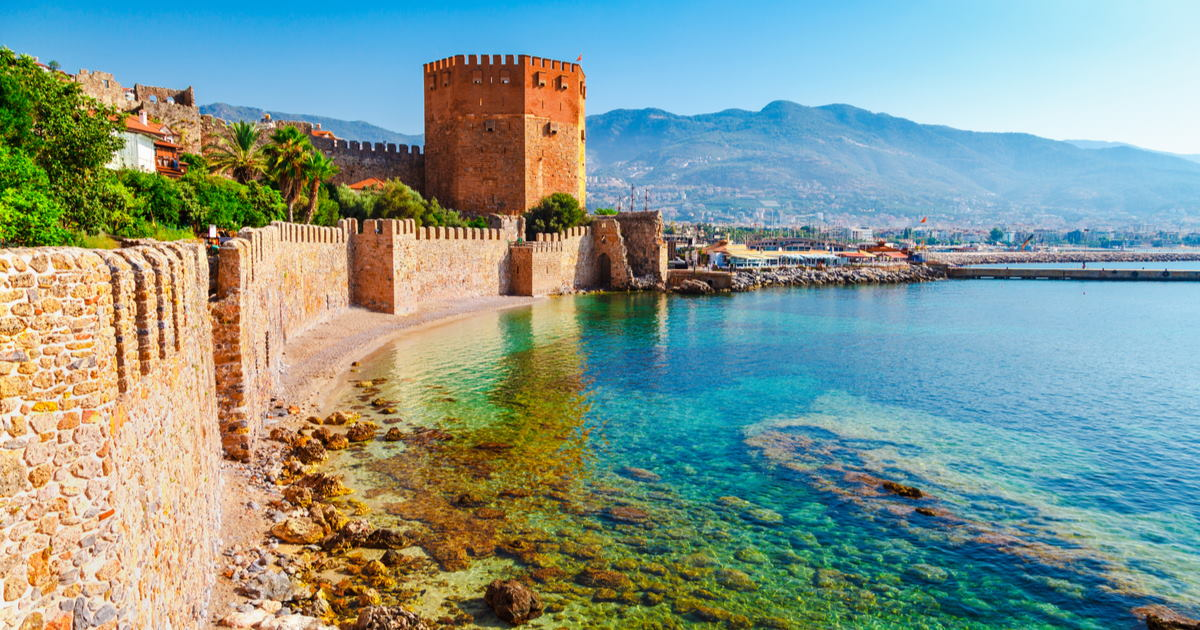 Red Tower in Alanya in Turkey
