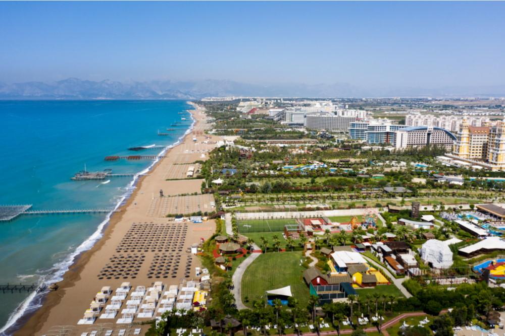 Lara Beach in Antalya in Turkey