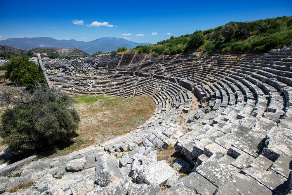 Letoon (Letoum) ancient city in Antalya in Turkey