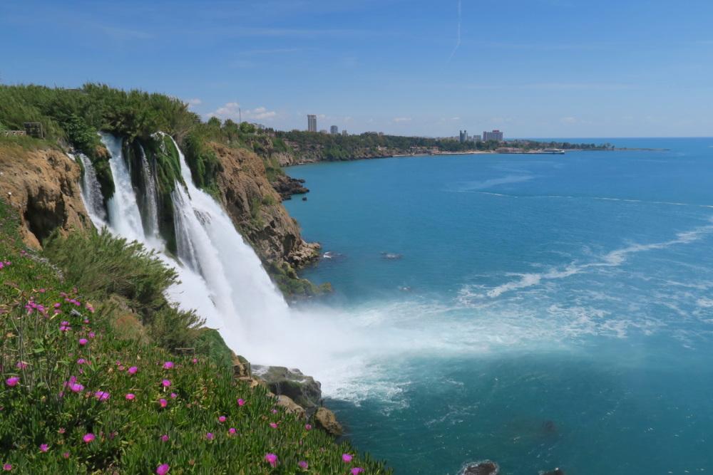 Lower Düden Waterfall in Lara in Antalya Turkey