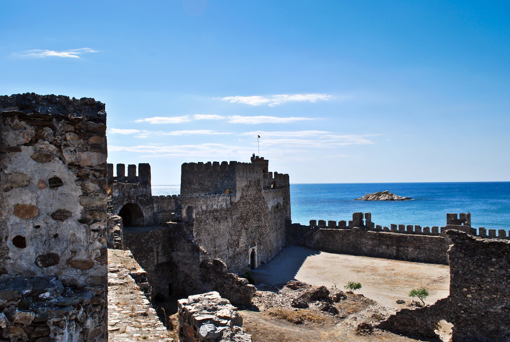 Mamure Castle - Anamur Castle in Mersin in Turkey