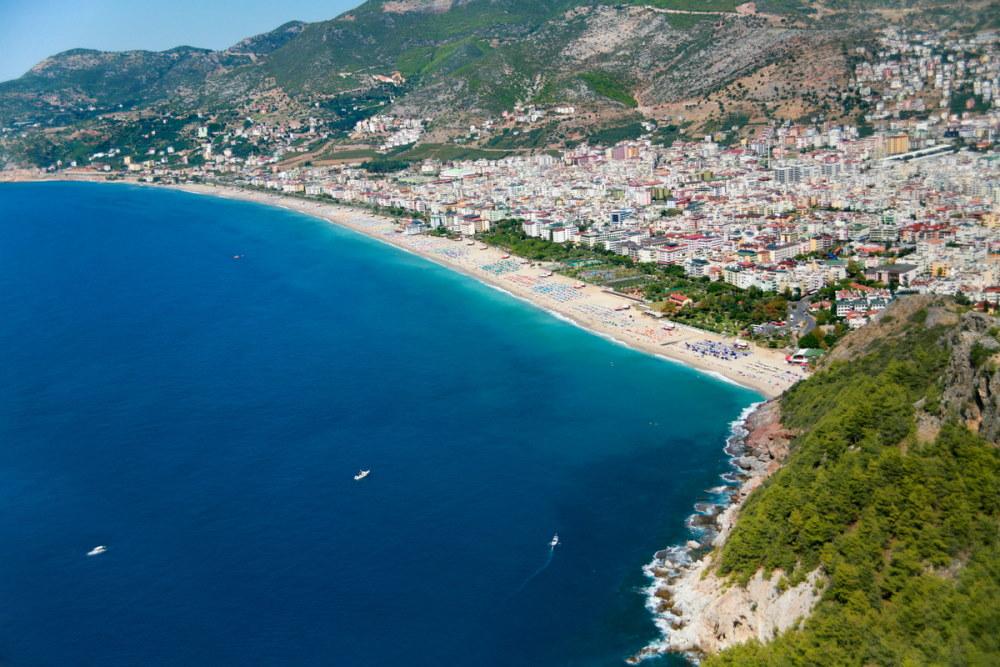 Mediterranean Sea Cleopatra beach in Alanya