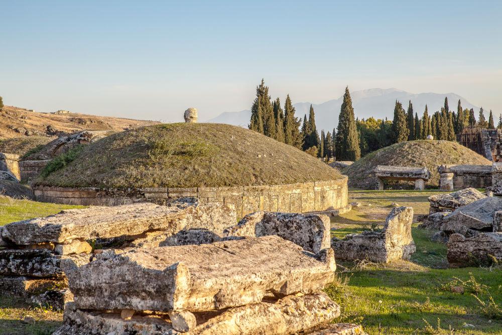 Necropolis in Pamukkale in Turkey