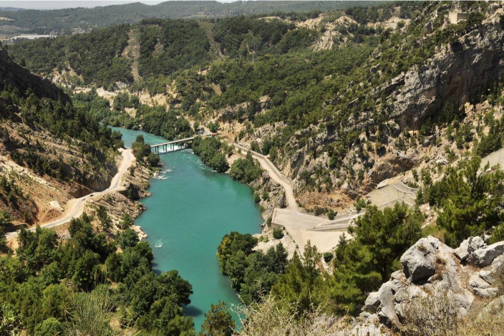 Oymapinar dam in Manavgat in Antalya Turkey