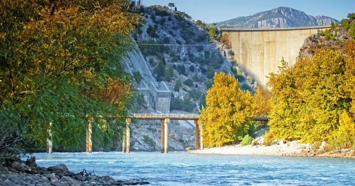 Oymapinar dam on the river Manavgat in Antalya Turkey
