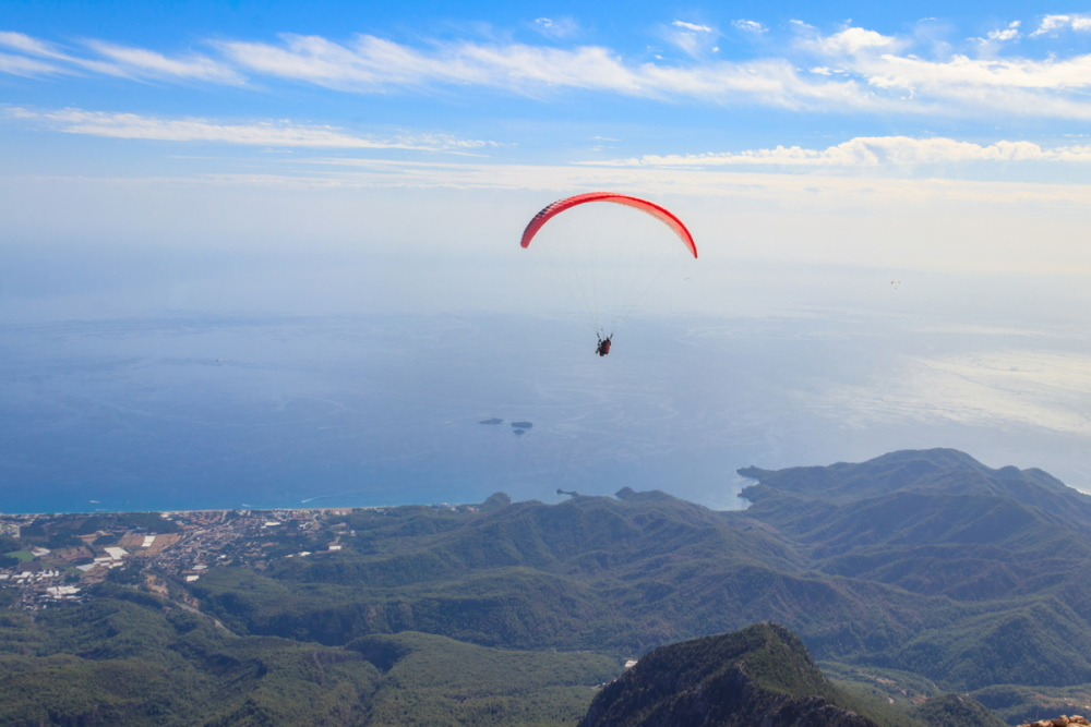 Paragliding from Olympos or in Alanya in Turkey