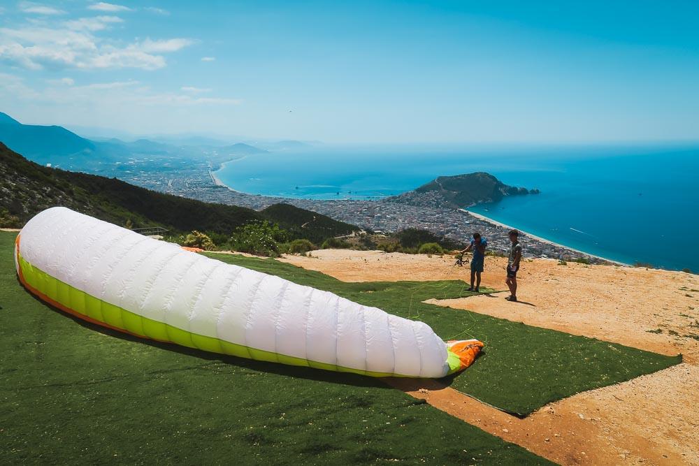 Paragliding in Antalya in Turkey