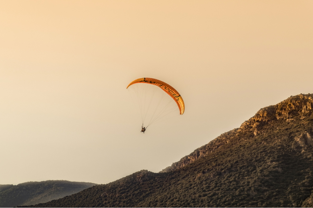 Paragliding in Kas in Antalya in Turkey