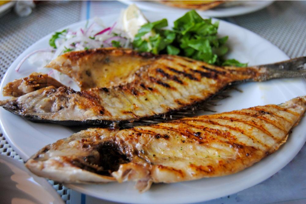 Plate of sea bream fish in Turkey