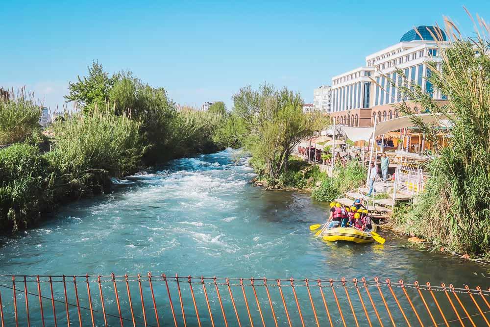 Rafting at Düden River in Antalya Turkey