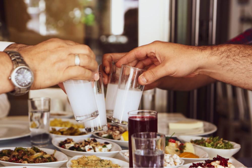 Raki is the Turkish National Alcoholic Drink