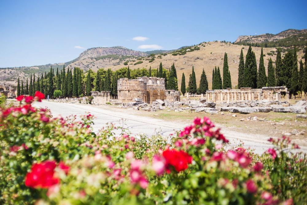 Roman Hierapolis in Pamukkale in Turkey