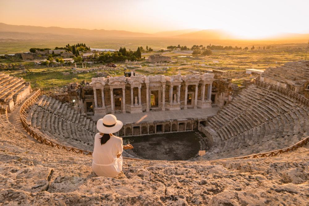 Ruins of Hierapolis in Pamukkale in Turkey
