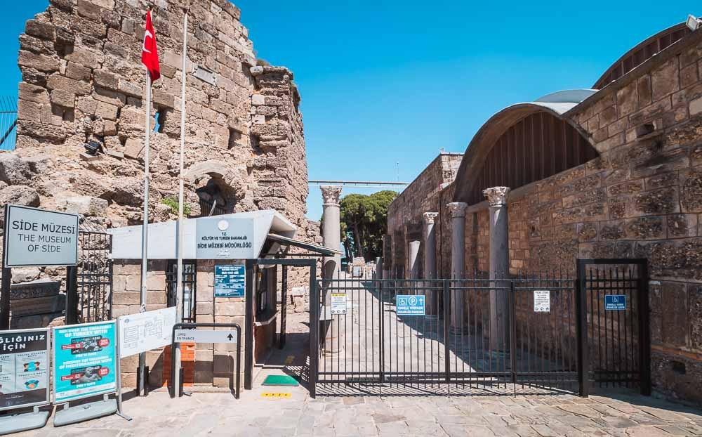 Side Archeological Museum in Antalya in Turkey