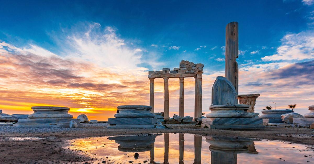 Side Old Town in Antalya in Turkey