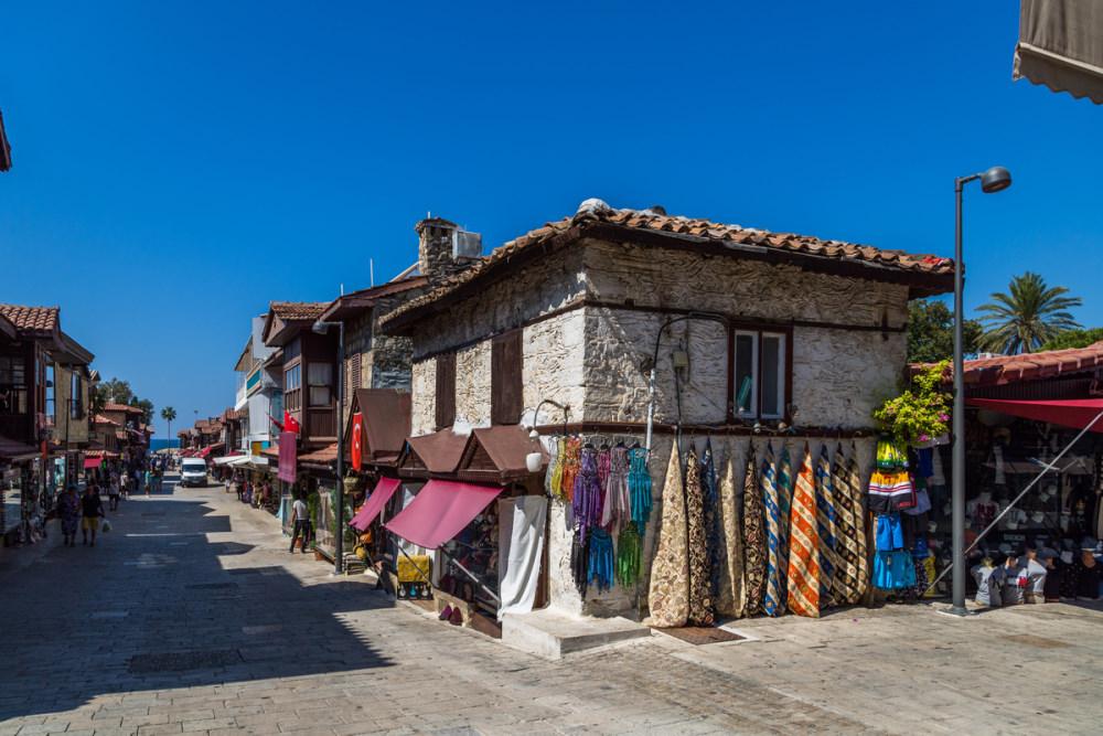 Side Old Town in Manavgat in Antalya