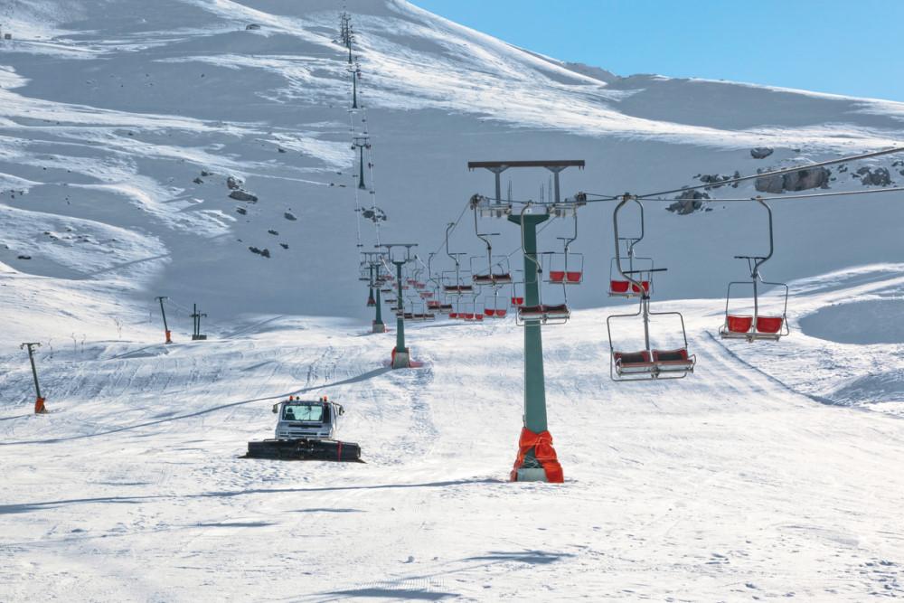 Slopes at Saklıkent Skiing Resort in Antalya