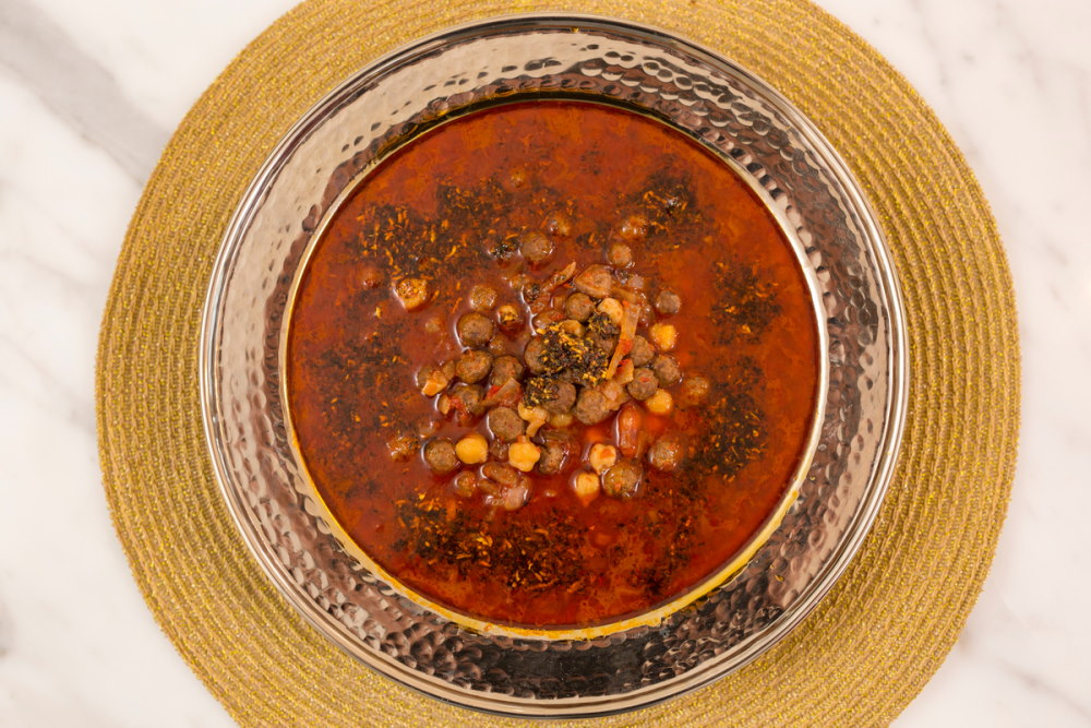 Spicy Soup with Meatballs From Turkish Cuisine