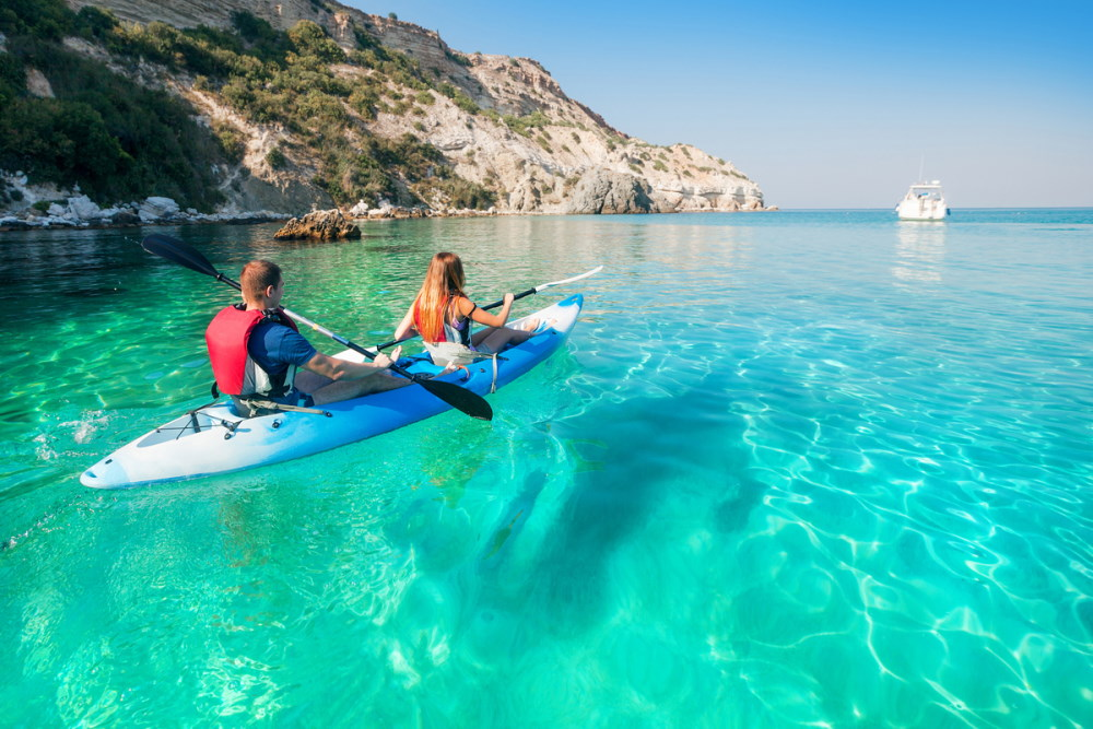 Stand Up Paddling, Sea Kayaking and Hot-Springs in Antalya in Turkey