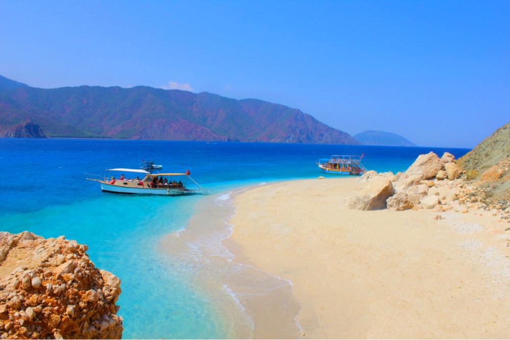 Suluada Island beach in Antalya in Turkey