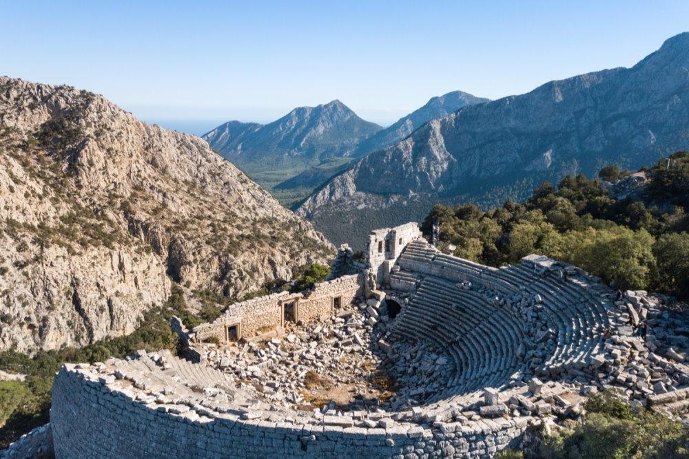 Termessos ancient city in Antalya in Turkey