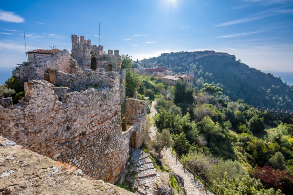 The Castle of Alanya Town in Antalya in Turkey