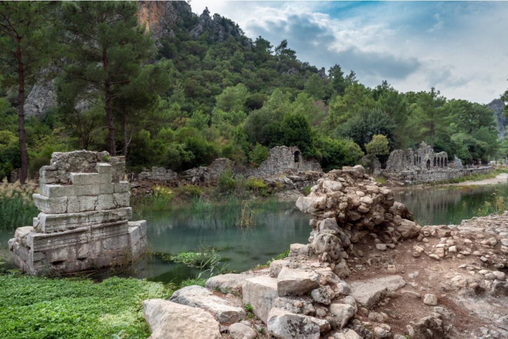 The History of Olympos in Antalya in Turkey