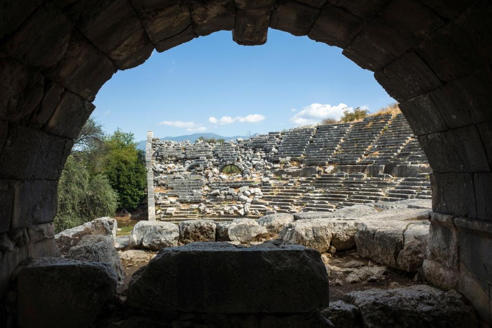 Theater in Letoon in Antalya in Turkey