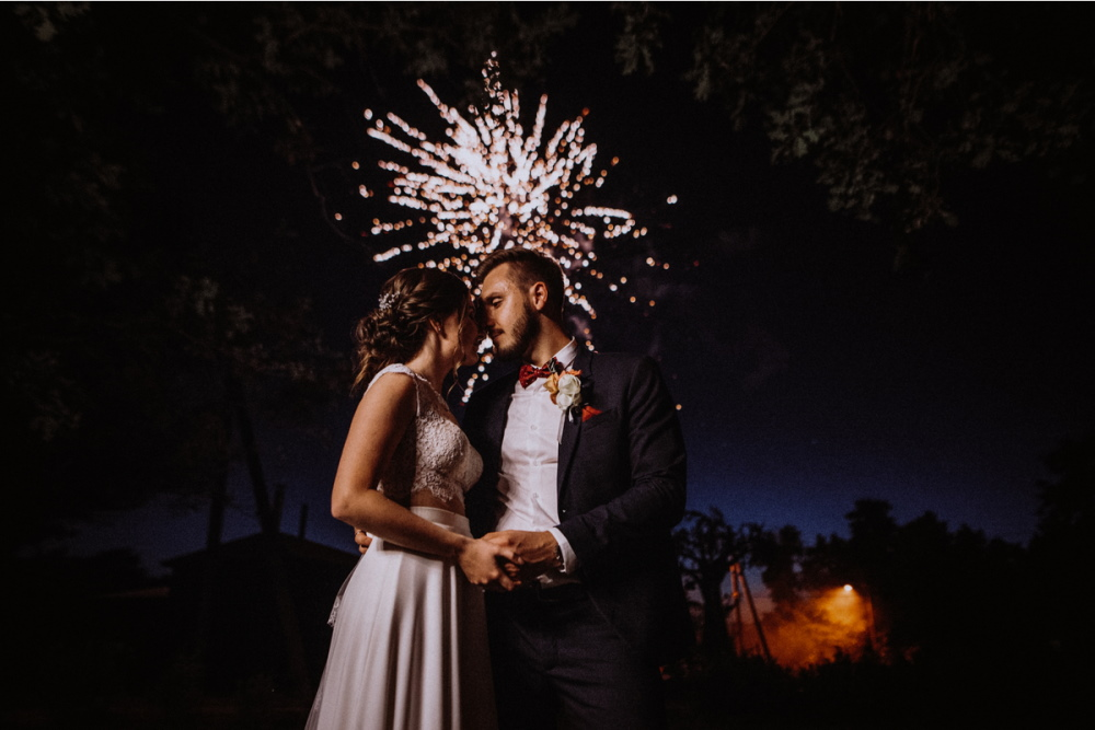 Wedding fireworks in Turkey