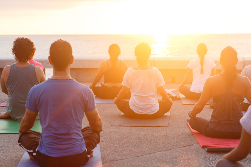 What are the activities during a yoga retreat