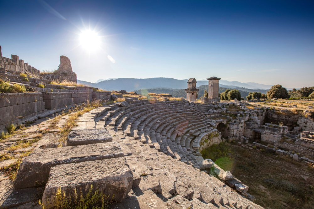 Xanthos Ancient City in Antalya in Turkey
