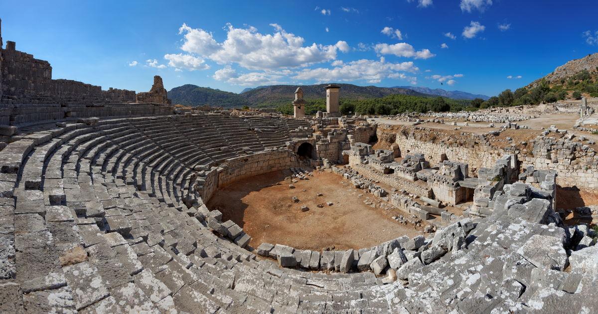 Xanthos Ancient Site in Antalya in Turkey