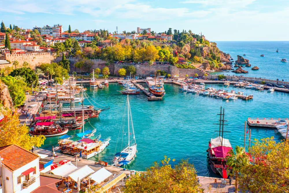 Yatch Harbour in Antalya in Turkey