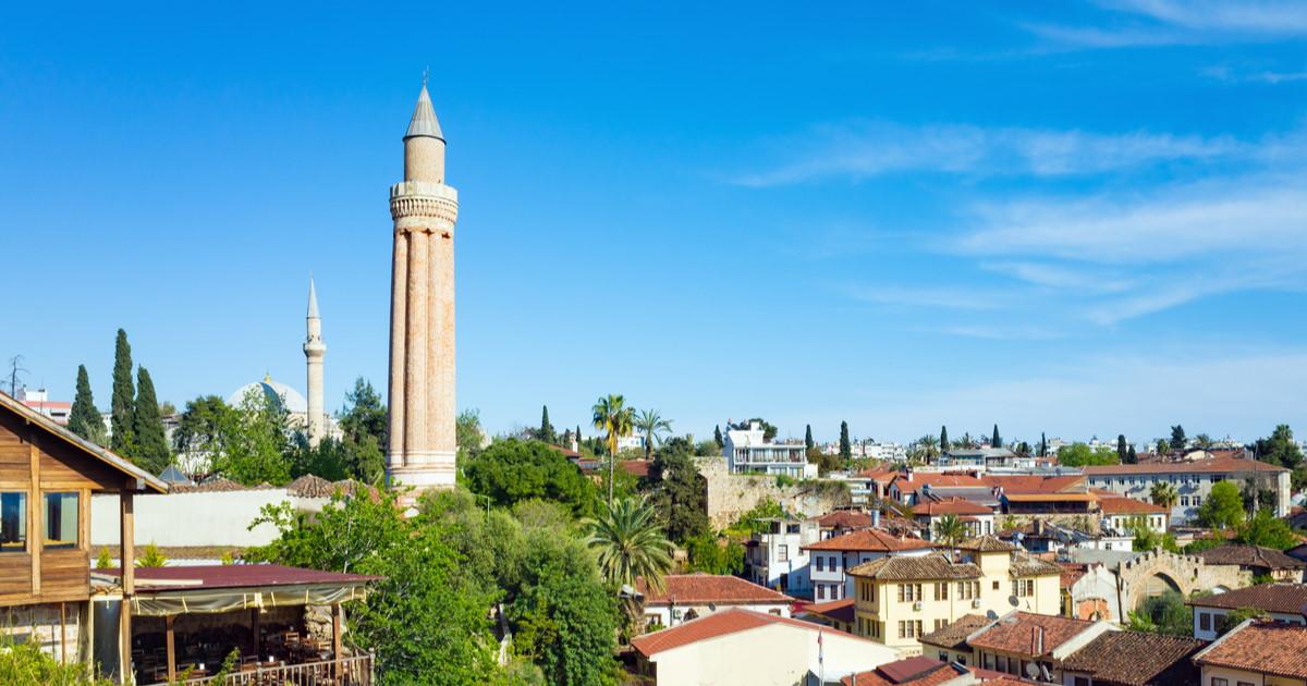 Yivli Minare Mosque in Antalya in Turkey