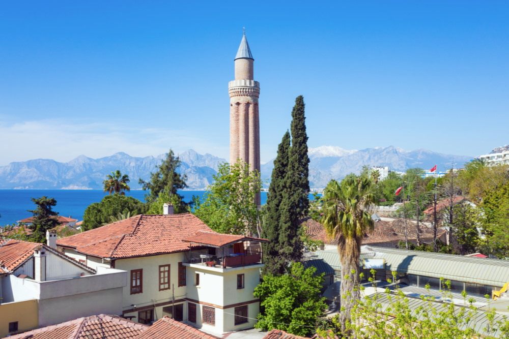 Yivliminare Mosque in Antalya in Turkey