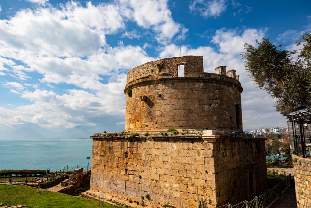 hıdırlık tower in Antalya in Turkey