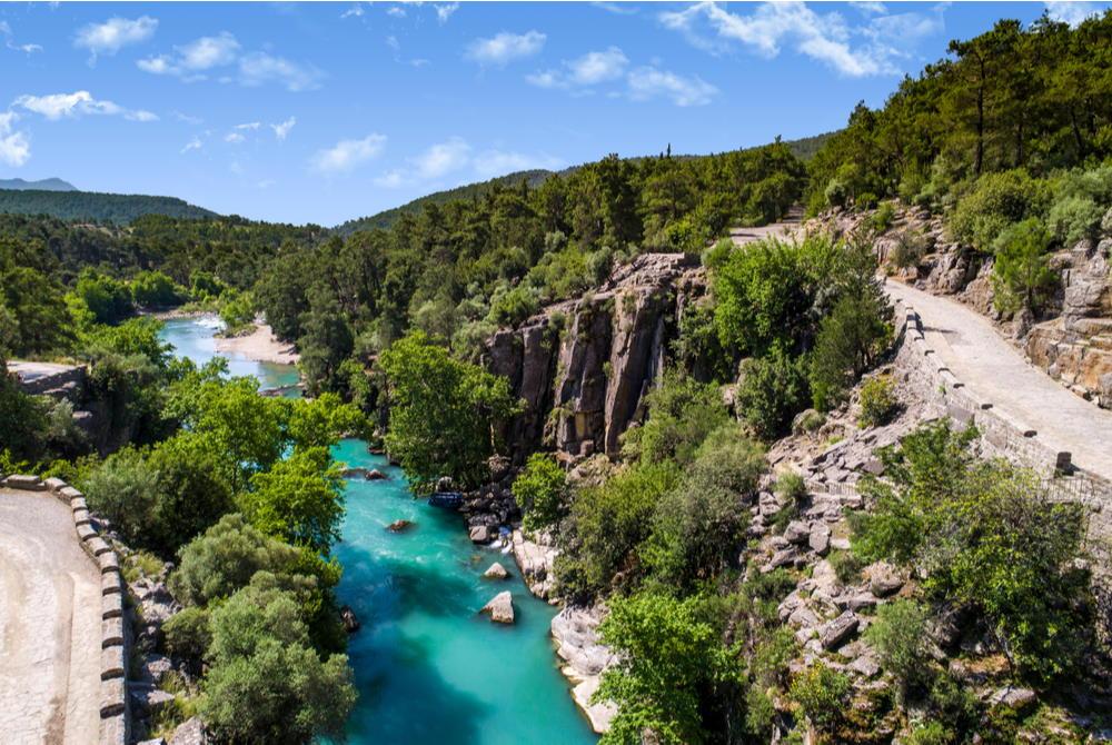 köprülü kanyon in Antalya in Turkey