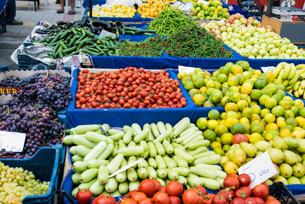 local bazaar in Alanya in Antalya in Turkey