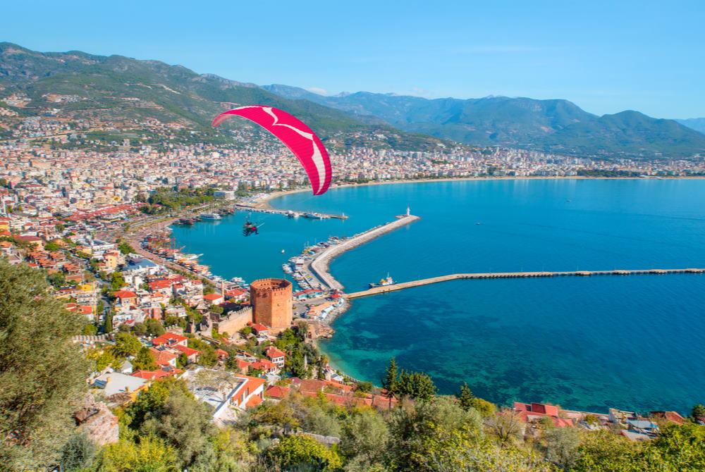 tandem paragliding in Alanya in Turkey
