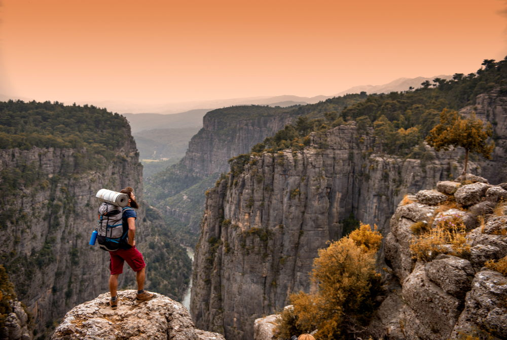 tazı canyon in antalya in turkey