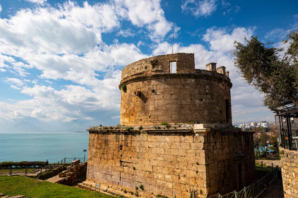 Hidirlik tower in Antalya in Turkey