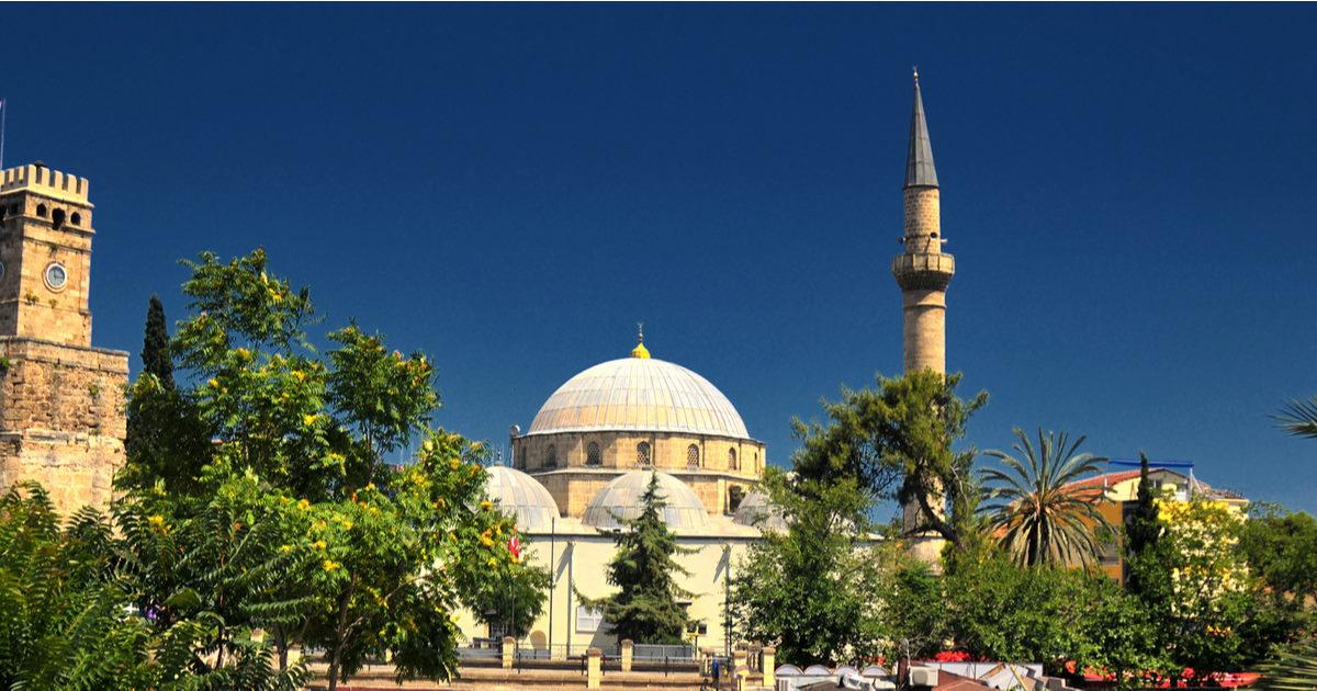 antalya mosque in Antalya in Turkey