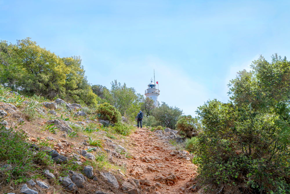 cape gelidonya in Antalya in Turkey-