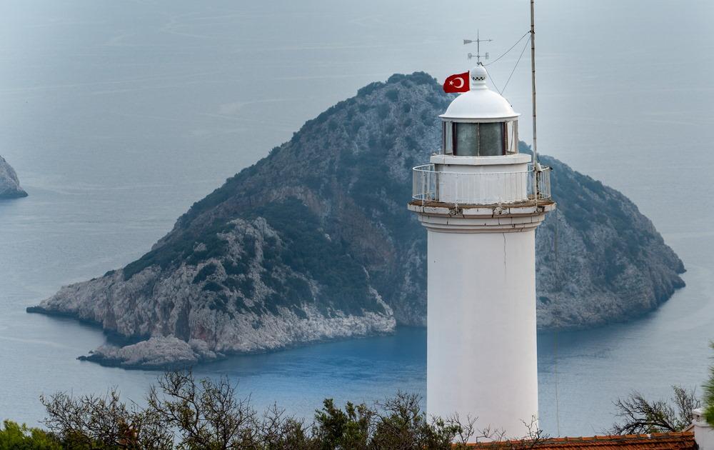 cape gelidonya lighthouse in Antalya in Turkey