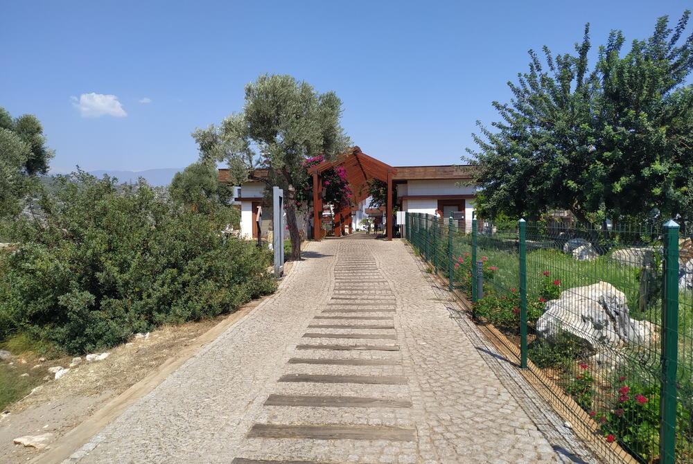 entrance Andriake-ancient site in Antalya in Turkey
